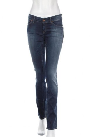 Дамски дънки 7 For All Mankind, Размер S, Цвят Син, 60% памук, 6% еластан, 4% еластан, Цена 92,95лв.
