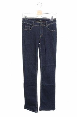 Дамски дънки Etam, Размер XS, Цвят Син, 99% памук, 1% еластан, Цена 21,36лв.