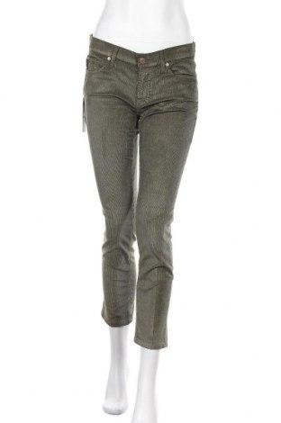 Дамски джинси 7 For All Mankind, Размер M, Цвят Зелен, 50% памук, 48% вискоза, 2% еластан, Цена 81,12лв.