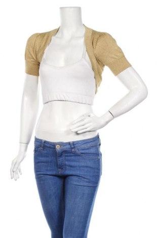 Дамски елек H&M Divided, Размер M, Цвят Жълт, 83% вискоза, 11% полиестер, 6% метални нишки, Цена 5,80лв.