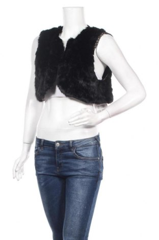 Дамски елек La Mode Est A Vous, Размер S, Цвят Черен, 95% полиестер, 5% еластан, Цена 39,00лв.