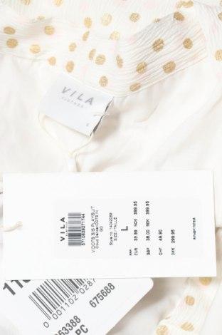 Дамски гащеризон Vila, Размер XL, Цвят Бял, 97% полиестер, 3% еластан, Цена 26,22лв.