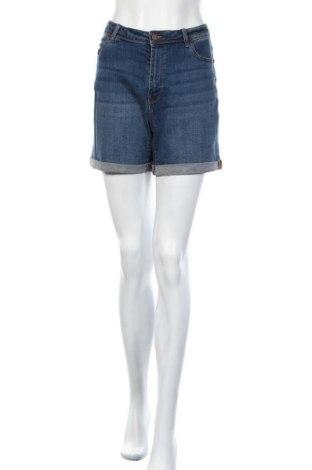 Дамски къс панталон Camaieu, Размер L, Цвят Син, 99% памук, 1% еластан, Цена 19,00лв.