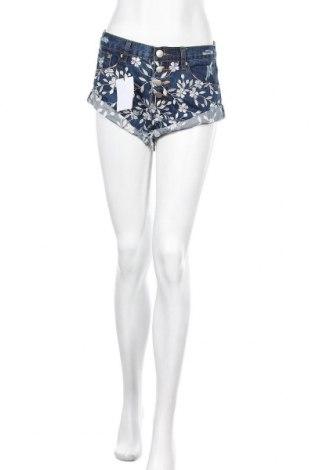 Γυναικείο κοντό παντελόνι Glamorous, Μέγεθος S, Χρώμα Μπλέ, Βαμβάκι, Τιμή 17,32€