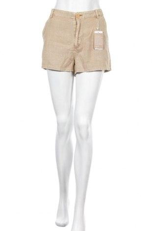 Γυναικείο κοντό παντελόνι Mango, Μέγεθος M, Χρώμα  Μπέζ, 55% λινό, 45% βαμβάκι, Τιμή 13,89€
