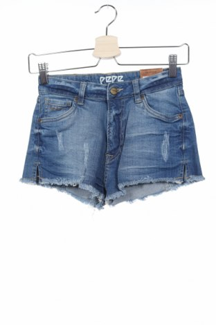 Γυναικείο κοντό παντελόνι Pepe Jeans, Μέγεθος XS, Χρώμα Μπλέ, 98% βαμβάκι, 2% ελαστάνη, Τιμή 38,27€