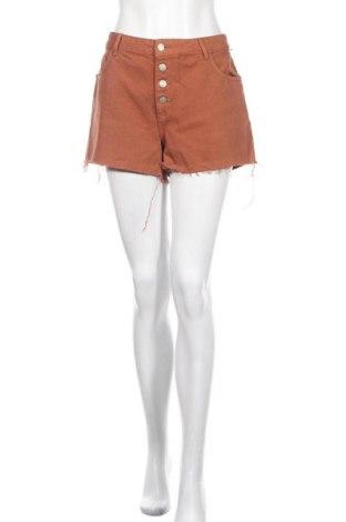 Дамски къс панталон Pimkie, Размер L, Цвят Кафяв, Памук, Цена 19,00лв.