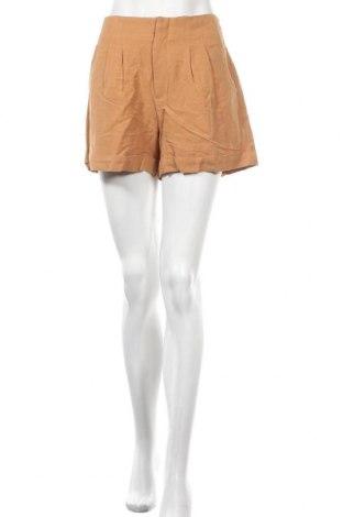 Pantaloni scurți de femei See U Soon, Mărime L, Culoare Portocaliu, 55% in, 45% viscoză, Preț 35,92 Lei