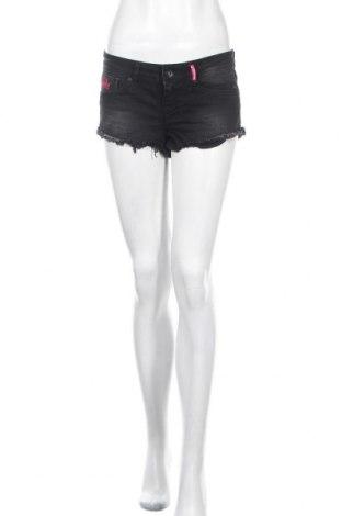 Pantaloni scurți de femei Superdry, Mărime S, Culoare Gri, 99% bumbac, 1% elastan, Preț 54,47 Lei