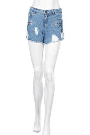 Дамски къс панталон Vero Moda, Размер XS, Цвят Син, Памук, Цена 22,00лв.