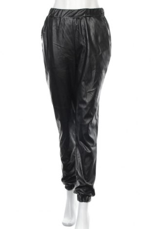 Дамски кожен панталон Missguided, Размер XS, Цвят Черен, Еко кожа, Цена 48,00лв.