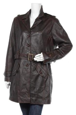 Γυναικεία δερμάτινη καμπαρντίνα Mark Adam, Μέγεθος XL, Χρώμα Καφέ, Γνήσιο δέρμα, Τιμή 29,10€