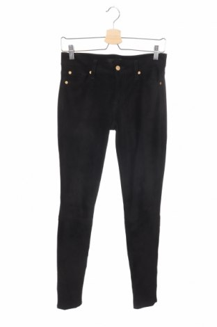 Дамски панталон 7 For All Mankind, Размер XS, Цвят Черен, 92% полиестер, 8% еластан, Цена 36,23лв.