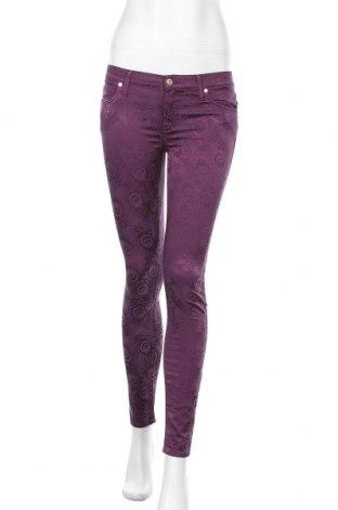 Дамски панталон 7 For All Mankind, Размер S, Цвят Лилав, 60% памук, 37% вискоза, 3% еластан, Цена 81,12лв.