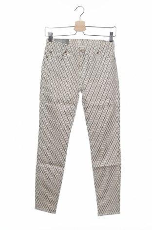 Дамски панталон 7 For All Mankind, Размер S, Цвят Бежов, 98% памук, 2% еластан, Цена 97,44лв.