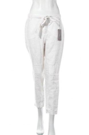 Γυναικείο παντελόνι Christian Berg, Μέγεθος M, Χρώμα Εκρού, Λινό, Τιμή 20,36€