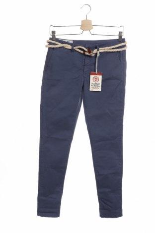 Дамски панталон Franklin & Marshall, Размер XS, Цвят Син, 98% памук, 2% еластан, Цена 41,40лв.