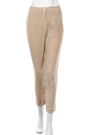 Γυναικείο παντελόνι Lauren Vidal, Μέγεθος S, Χρώμα  Μπέζ, Λινό, Τιμή 23,64€