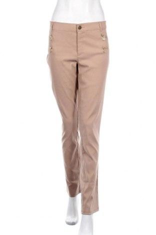 Γυναικείο παντελόνι Melrose, Μέγεθος XL, Χρώμα  Μπέζ, 71% πολυεστέρας, 25% βισκόζη, 4% ελαστάνη, Τιμή 13,64€