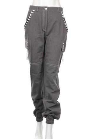 Дамски панталон Missguided, Размер M, Цвят Сив, Памук, Цена 12,40лв.