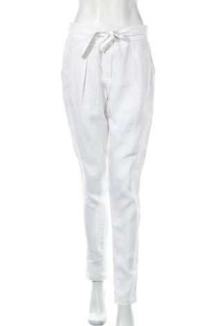 Дамски панталон Rene Lezard, Размер M, Цвят Бял, Лен, Цена 86,00лв.
