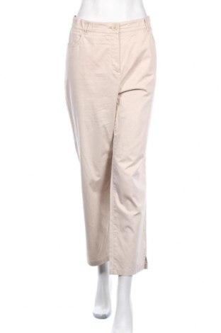 Γυναικείο παντελόνι Samoon, Μέγεθος XL, Χρώμα  Μπέζ, 97% βαμβάκι, 3% ελαστάνη, Τιμή 12,70€
