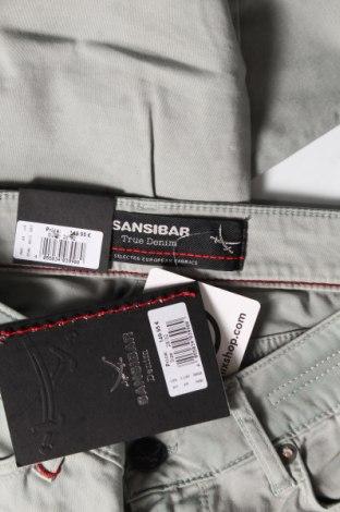 Дамски панталон Sansibar, Размер M, Цвят Зелен, 97% памук, 3% еластан, Цена 37,80лв.
