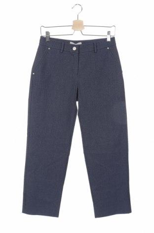 Дамски панталон Stefanel, Размер XS, Цвят Син, 53% памук, 30% полиестер, 15% вискоза, 2% еластан, Цена 20,28лв.