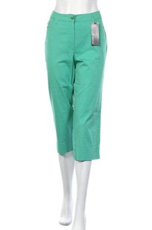 Γυναικείο παντελόνι Zerres, Μέγεθος L, Χρώμα Πράσινο, 98% βαμβάκι, 2% ελαστάνη, Τιμή 19,70€