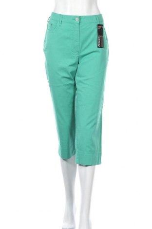 Γυναικείο παντελόνι Zerres, Μέγεθος L, Χρώμα Πράσινο, 98% βαμβάκι, 2% ελαστάνη, Τιμή 20,90€