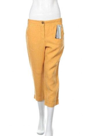 Γυναικείο παντελόνι Zerres, Μέγεθος M, Χρώμα Κίτρινο, Λινό, Τιμή 20,90€