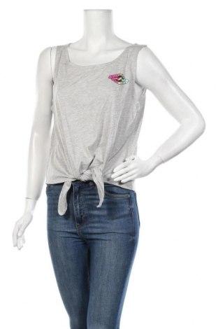Γυναικείο αμάνικο μπλουζάκι Billabong, Μέγεθος L, Χρώμα Γκρί, 50% βαμβάκι, 50% πολυεστέρας, Τιμή 7,44€