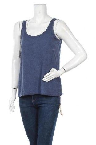 Γυναικείο αμάνικο μπλουζάκι DDP, Μέγεθος S, Χρώμα Μπλέ, 50% πολυεστέρας, 38% βαμβάκι, 12% βισκόζη, Τιμή 7,07€