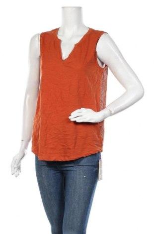 Γυναικείο αμάνικο μπλουζάκι DDP, Μέγεθος L, Χρώμα Πορτοκαλί, 100% βαμβάκι, Τιμή 6,99€