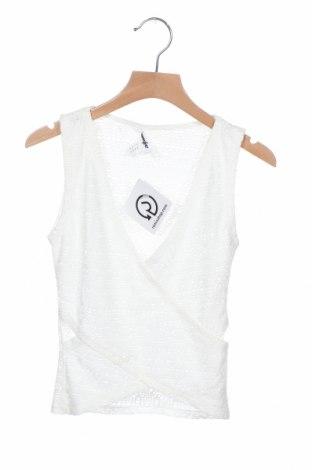 Γυναικείο αμάνικο μπλουζάκι Jennyfer, Μέγεθος XS, Χρώμα Λευκό, 96% πολυαμίδη, 4% ελαστάνη, Τιμή 4,88€