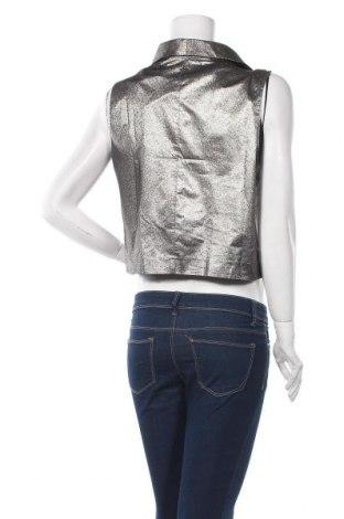 Дамски елек La Mode Est A Vous, Размер M, Цвят Сребрист, 76% полиестер, 24% метални нишки, Цена 14,70лв.