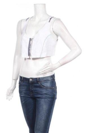 Дамски потник La Mode Est A Vous, Размер S, Цвят Бял, 61% памук, 39% полиестер, Цена 31,85лв.