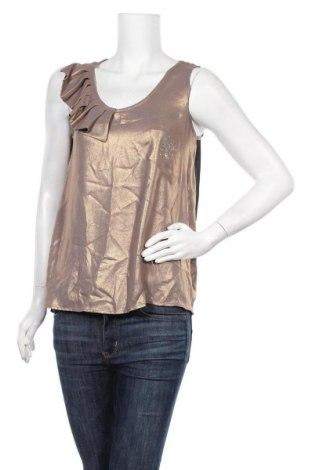 Γυναικείο αμάνικο μπλουζάκι La Mode Est A Vous, Μέγεθος S, Χρώμα Χρυσαφί, Πολυεστέρας, Τιμή 7,09€