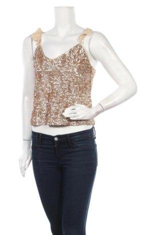 Γυναικείο αμάνικο μπλουζάκι Mango, Μέγεθος S, Χρώμα  Μπέζ, Πολυεστέρας, Τιμή 8,04€
