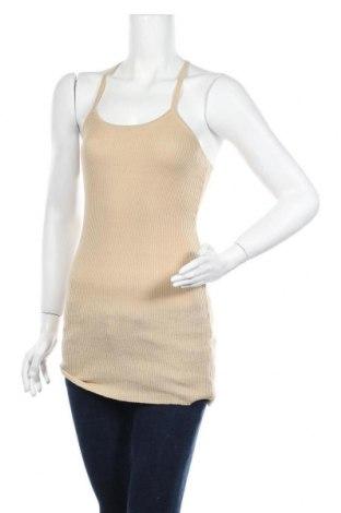 Γυναικείο αμάνικο μπλουζάκι Molly Bracken, Μέγεθος M, Χρώμα  Μπέζ, 97% πολυεστέρας, 3% ελαστάνη, Τιμή 4,98€