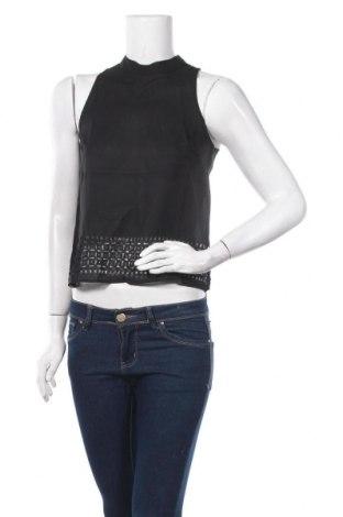 Γυναικείο αμάνικο μπλουζάκι On.You, Μέγεθος XS, Χρώμα Μαύρο, Πολυεστέρας, Τιμή 12,12€