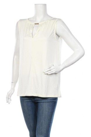 Γυναικείο αμάνικο μπλουζάκι Patrizia Pepe, Μέγεθος XL, Χρώμα Εκρού, Πολυεστέρας, Τιμή 33,82€