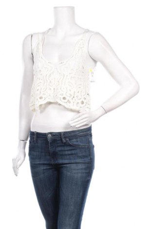 Γυναικείο αμάνικο μπλουζάκι Undiz, Μέγεθος S, Χρώμα Εκρού, 100% πολυεστέρας, Τιμή 4,34€