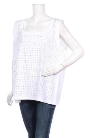 Γυναικείο αμάνικο μπλουζάκι Via Appia, Μέγεθος XXL, Χρώμα Λευκό, 95% βαμβάκι, 5% ελαστάνη, Τιμή 20,21€