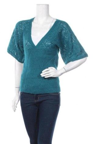 Дамски пуловер A.N.A., Размер S, Цвят Син, 93% акрил, 7% метални нишки, Цена 7,09лв.