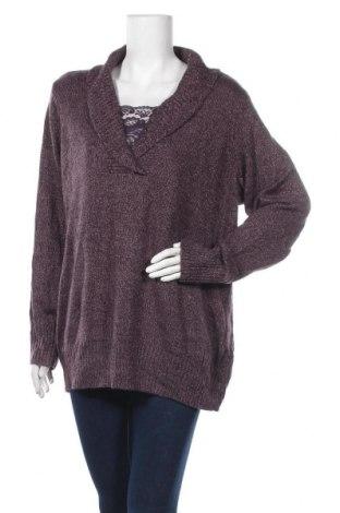 Дамски пуловер Basic Editions, Размер XL, Цвят Лилав, 93% астраган, 7% други материали, Цена 48,88лв.
