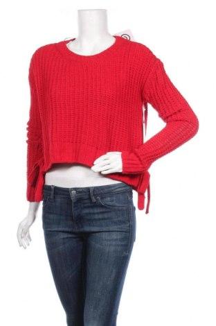 Дамски пуловер Candie's, Размер M, Цвят Червен, Полиестер, Цена 12,60лв.