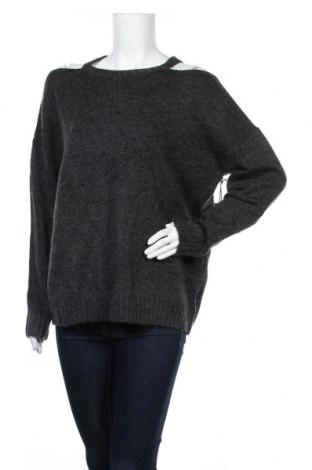 Дамски пуловер Forever 21, Размер L, Цвят Сив, 66% акрил, 21% полиестер, 7% вълна, 3% еластан, 3% други нишки, Цена 15,12лв.