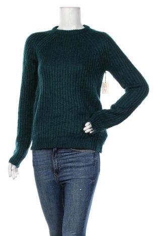 Дамски пуловер Forever 21, Размер L, Цвят Зелен, Акрил, Цена 19,32лв.