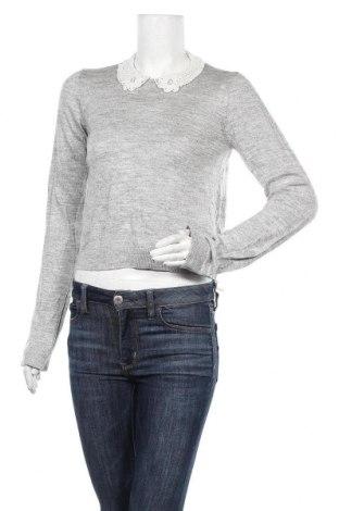 Дамски пуловер H&M Divided, Размер S, Цвят Сив, Акрил, Цена 25,94лв.